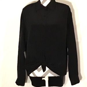 Vintage 90's Silk Button Down Blouse